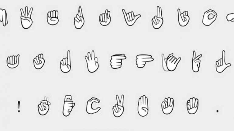 iOS พัฒนาแป้นพิมพ์ภาษามือสำหรับคนหูหนวก